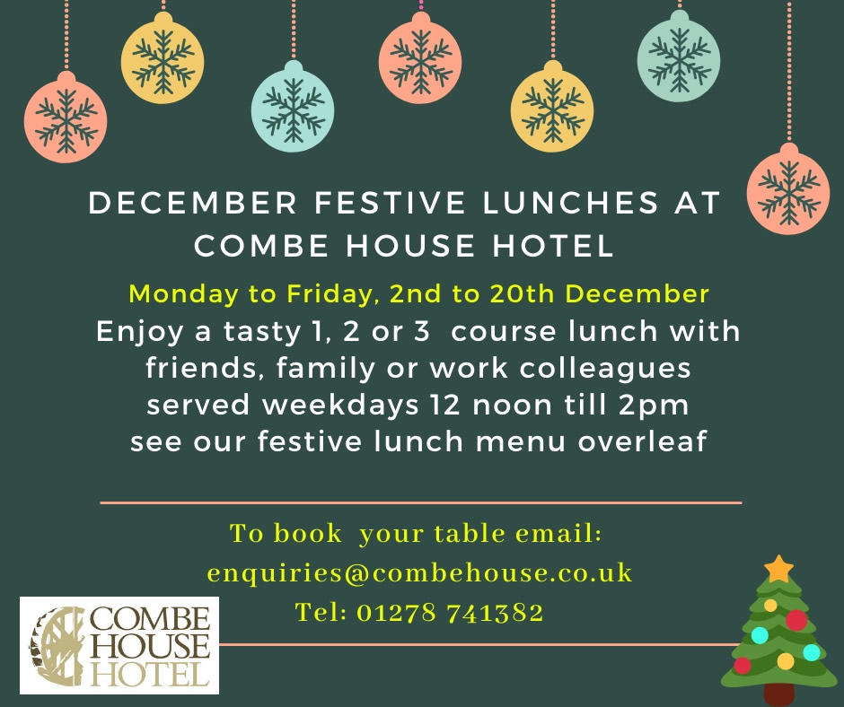 Festive Lunches at Combe House Hotel